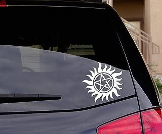 Signage Cafe Anti-Possession Symbol Wiccan Supernatural Vinyl Decal Sticker