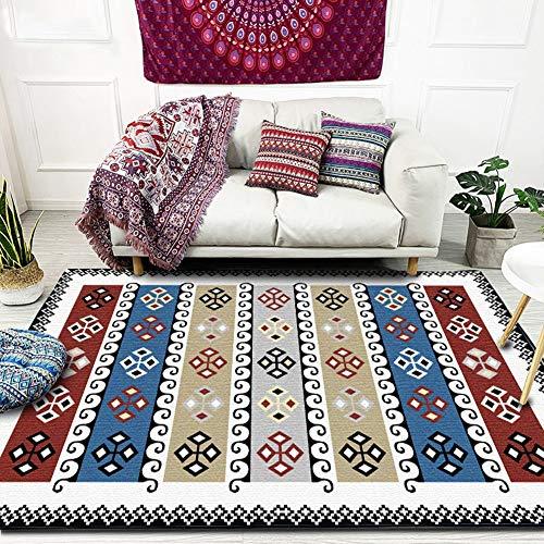 SXcarpet Geometrische Moderne Teppiche für das Wohnzimmer Teppich im türkischen Stil Schlafzimmer Bettdecke Teppich im weichen Arbeitszimmer rutschfeste Bodenmatte,Color,200X250CM