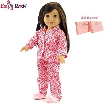 """Pink Hooded Jacket with Leopard Trim /& Pants fit 18/"""" American Girl Size Doll"""