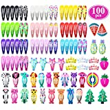 Best Barrettes For Toddlers - Hair Clips for Girls, Funtopia 100 Pcs No Review