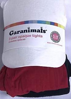 061b4b5613762 Garanimals Infant Baby Girl Box Tights, 3 Pair (1 Each of Black, White