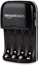 Amazon Basics Batterieladegerät für Ni-MH AA / AAA Akkus und USB Geräte