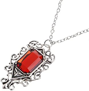 Stylish Necklace Isabelle Lightwood's Ruby Pendant Necklace The Mortal Instruments City of Bones for Women Girls Mom Gifts