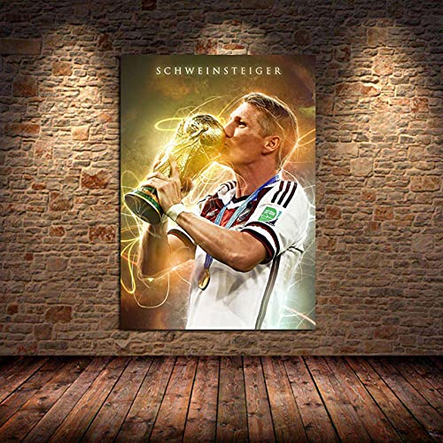 Weijiajia Famoso fútbol Estrella Arte Lienzo Pintura Carteles e Impresiones Imagen para Sala de Estar Dormitorio Amantes del fútbol decoración del hogar 50x70cm F-564