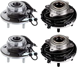 SCITOO Wheel hub Bearing for Chrysler Town Country Dodge Grand Caravan Ram Cargo Van VW Routan 2008-2015 Compatible for OE 512360 Front and Rear W/ABS(4 Pair)