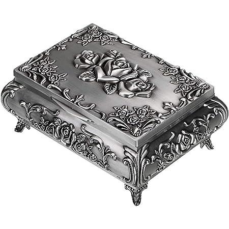 Silver Jewelry Box Silver Felt Lined Silver Jewelry Box Silver Trinket Box Valentines Day Vintage Jewelry Boxes Silver Boxes Jewelry Boxes