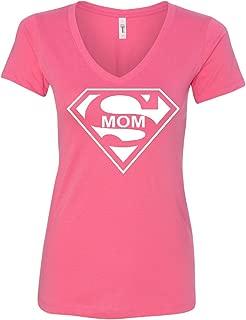 Super Mom Funny V-Neck T-Shirt Superhero Parody Mother's Day