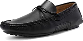 Bruno Marc Men's Santoni-01 Black Penny Loafers Moccasins Shoes Size 9 M US