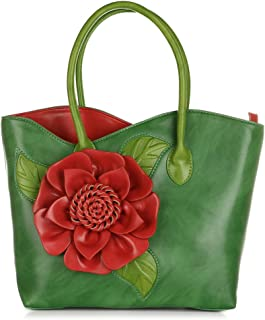 Women Handbag 3D Flower Seris PU Leather Purse Tote Bag By Vanillachocolate