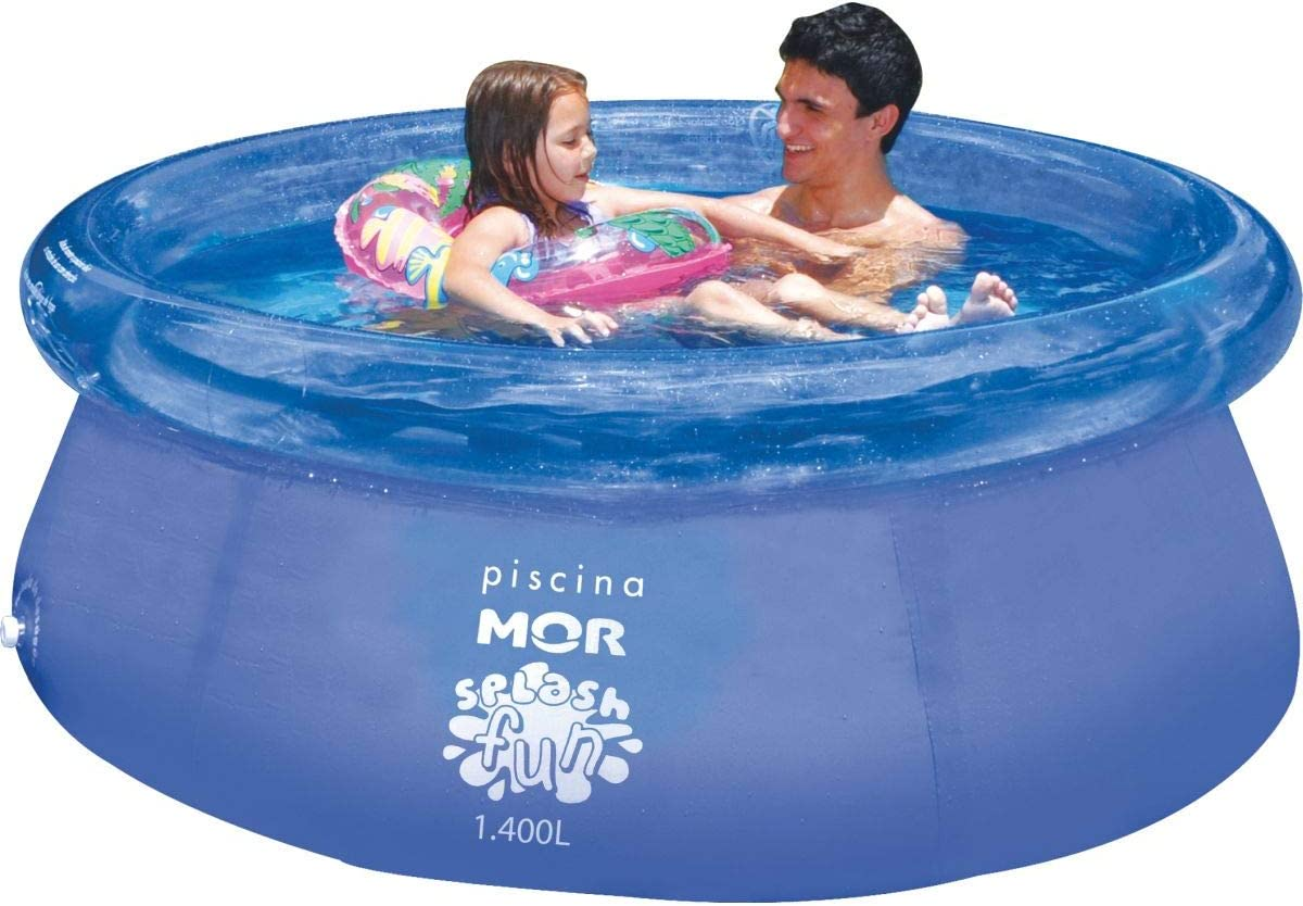 Mor Piscina Hinchable autoportante con aro 1400 litros 180x63