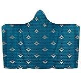 Manta con capucha para llevar de Navidad de punto azul retro suave manta de lana de coral Poncho cálido y acogedor para niños y adultos, regalo de 51 x 59 pulgadas