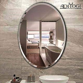 ADIYOGI INTERNATIONAL ADIYOGI_001 Oval Beveled Frameless Attractive Vanity/Exquisite Wall Mirror for Bathroom/Kitchen/Bedr...
