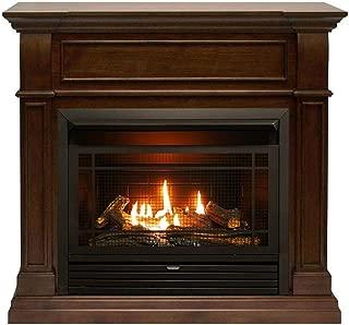 Duluth Forge FDF300R Dual Fuel Ventless Gas Fireplace-26,000 BTU, Remote Control, Walnut