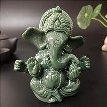 Statue Ornaments Lord Ganesha Statue India Buddha Elephant God Ganesh Sculptures Home Office Garden Decoration Crafts