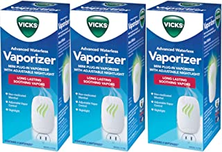 Vicks Advanced Waterless Vaporizer with 4 Vapopads each (Value Pack of 3)