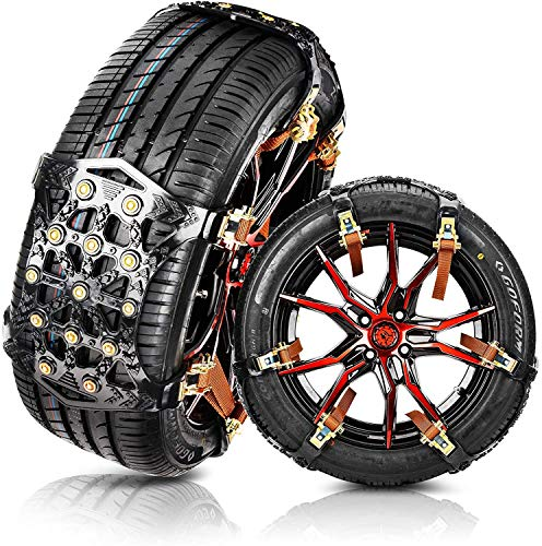 MATCC Snow Chains for Car Tyres Emergency Traction Snow Chain Snow Sucks...