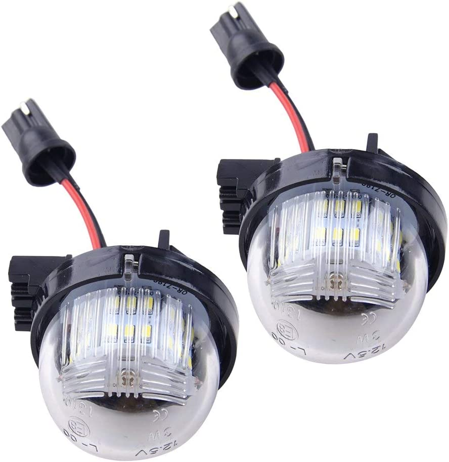 KENZAVO 2pcs 3.7x4.5cm White Under blast sales LED License Plate Financial sales sale Fit Lamp Fo Light