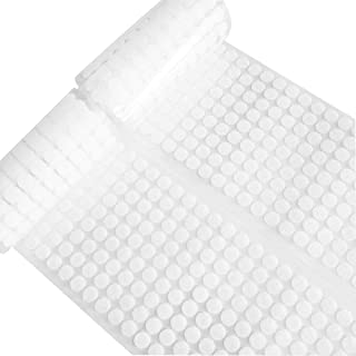 """JIALU 1008pcs (504 Pairs) Hook & Loop Self Adhesive Dots Tapes 10mm/0.39"""" Diameter Sticky Back Coins White"""