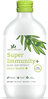 WellGrove Immunity Booster Olive Leaf Extract with Heart Health | All Natural Vegan Antioxidant Dietary Supplement | Promo...