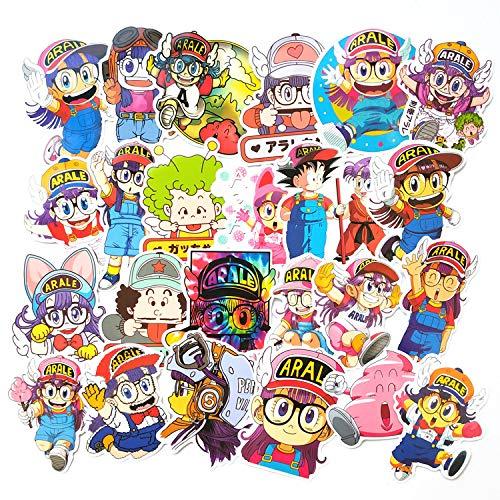 HUNSHA 24/paquete Alale Xiaoyu Dragon Ball lindo niños graffiti etiqueta de la mano cuenta de dibujos animados DIY coche decoración cuerpo etiqueta
