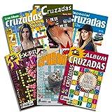 DataPrice Pack de 6 Libros de Pasatiempos Cruzadas. Cruzadas para Adultos variadas. - Ed. Zugarto -.