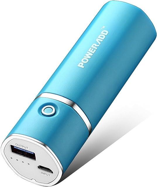 POWERADD Slim2 5000mAh Power Bank Cargador Móvil Portátil Batería Externa para iPhone iPad Samsung Huawei Xiaomi Dispositivos Android y Más