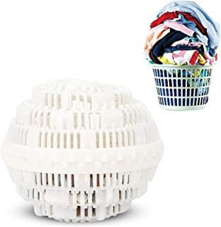 Eco-Friendly Laundry Ball,Eco-Friendly Laundry Cleaning Ball, Household Washer Balls Laundry Ball, for Travel Home (White)