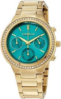 Caravelle New York Women's 44L215 Swarovski Crystal  Gold Tone Watch