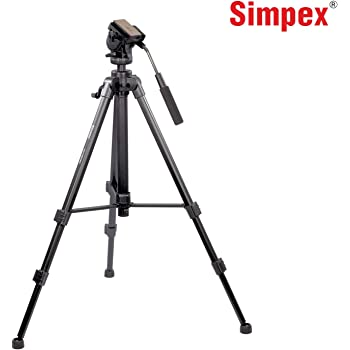 Simpex VCT 888 Portable Aluminium Tripod for DSLR Camera with Carry Bag