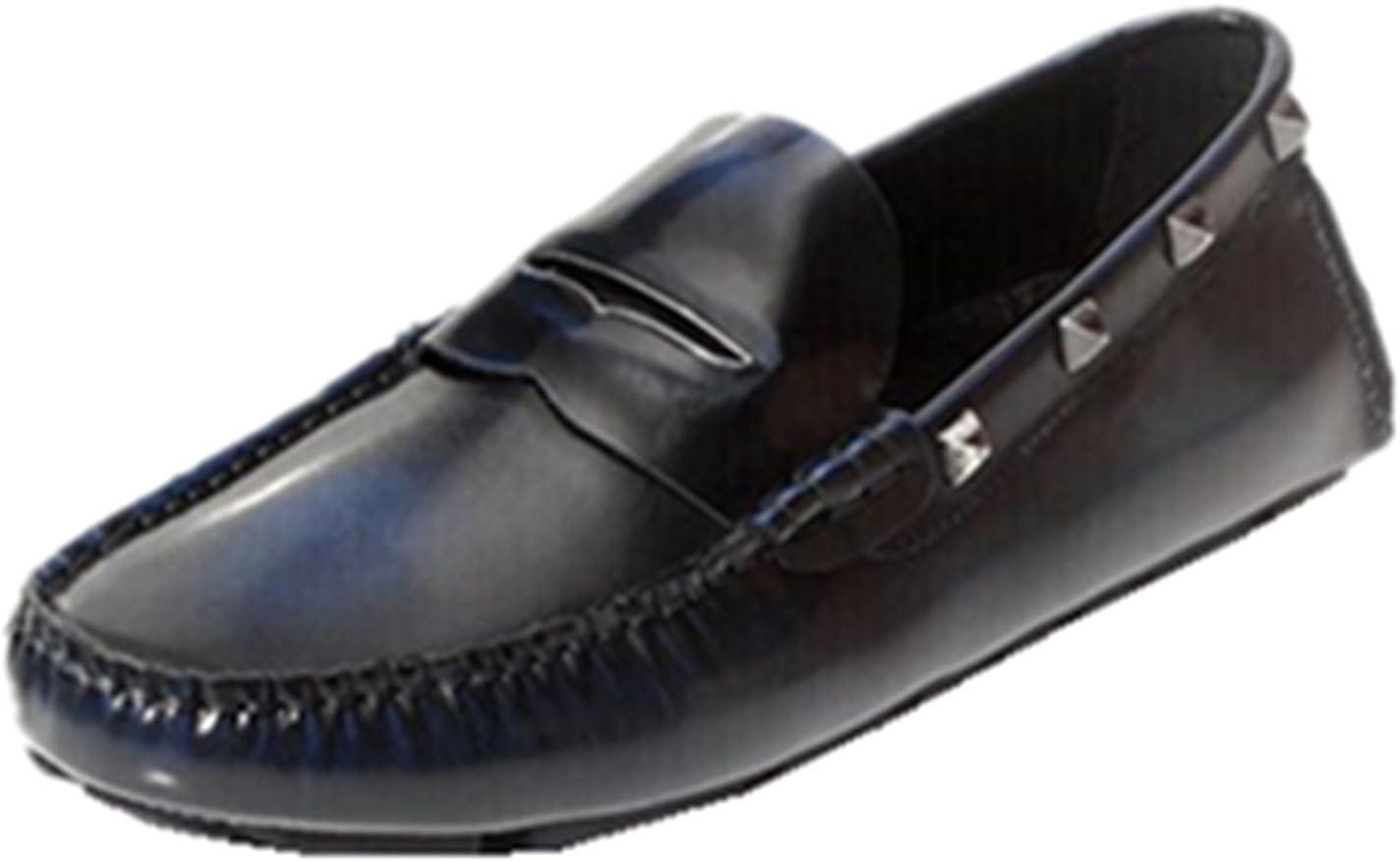 Deluxe Max 75% OFF HAPPYSHOP TM Men's Genuine Leather Polishing Slip-on Drivi Color