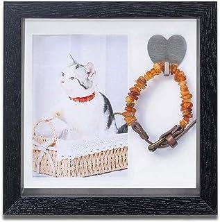 WNGGADH Cadre photo commémoratif pour chien ou chat - Souvenir de condoléances pour chien ou chat - Cadeau pour collier po...