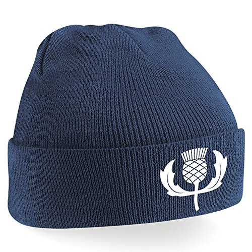 bce7abeab7ceb6 Unisex Adult Classic Embroidered Scotland Thistle Crest Rugby Winter Beanie  Hat