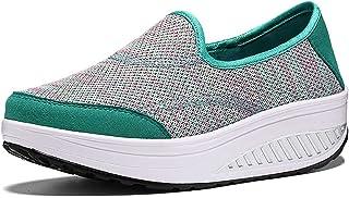 ChayChax Femme Baskets Léger Compensées Respirantes Chaussures de Marche de Plein Sneakers Fitness Sport Plateforme