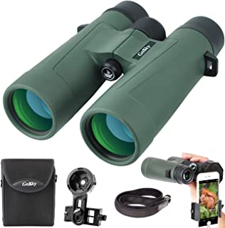 Gosky 8x42 Binoculars for Adults, Ultra HD Professional Binoculars for Bird Watching Travel Stargazing Hunting Concerts Sports-BAK4 Prism FMC Lens-with Phone Mount Strap Carrying Bag