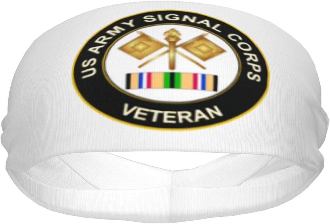 Ldmsl Us Army Veteran Signal Athletic Corps Sweat Unisex Max 49% OFF Soldering Elastic