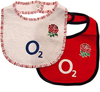 ラグビー イングランド代表 England R.F.U. オフィシャル商品 赤ちゃん・ベビー用 ビブ よだれかけ (2枚組)
