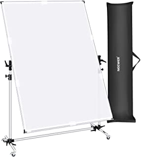 Neewer 10 x 5.6ft Photo Backdrop Stand with Pulleys and 2 x 1.4M Diffusion Fabric, 360 Degree Rotatable and Adjustable Pho...