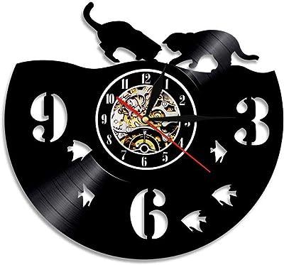 ttymei Tocadiscos DJ Custom Wall Art Reloj de Pared DJ Your Name ...