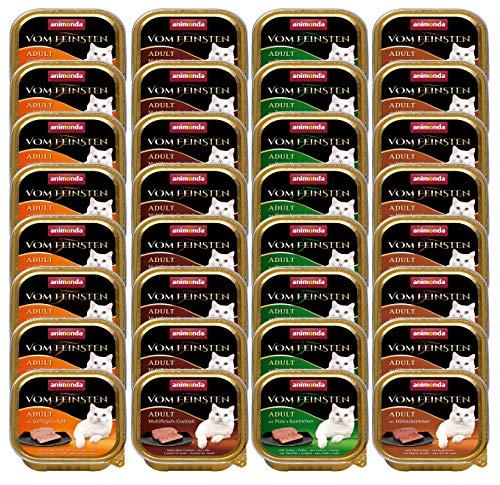 animonda Vom Feinsten Adult Katzenfutter, Nassfutter für ausgewachsene Katzen, Mix Geflügel-Kreation, 32 x 100 g