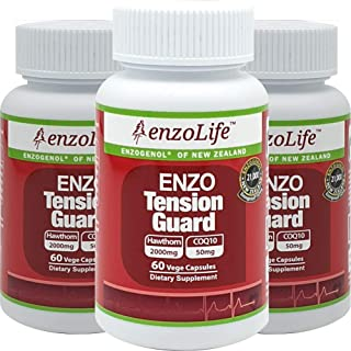 Hawthorn Extract Tension Guard 60Capsule Enzogenol Support Healthy Blood Flow Dietary Supplement (3 Bottle)