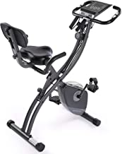 2-in-1 Magnetic Upright Exercise Bike, Foldable Exercise Equipment for Home, Upright Walker Assault Bike Fixed Erection Sp...
