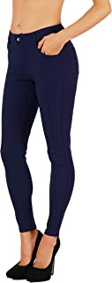Women's Jean Look Buttery Soft Jeggings Tights Slimming Full Lenght Mid Rise Ponte Knit Leggings Pants S-XXXL