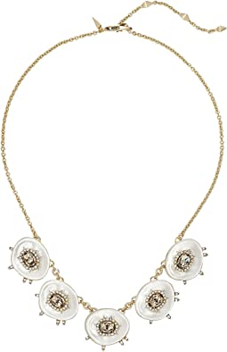 Alexis Bittar - Crystal and Stone Studded Small Liquid Silk Bib Necklace