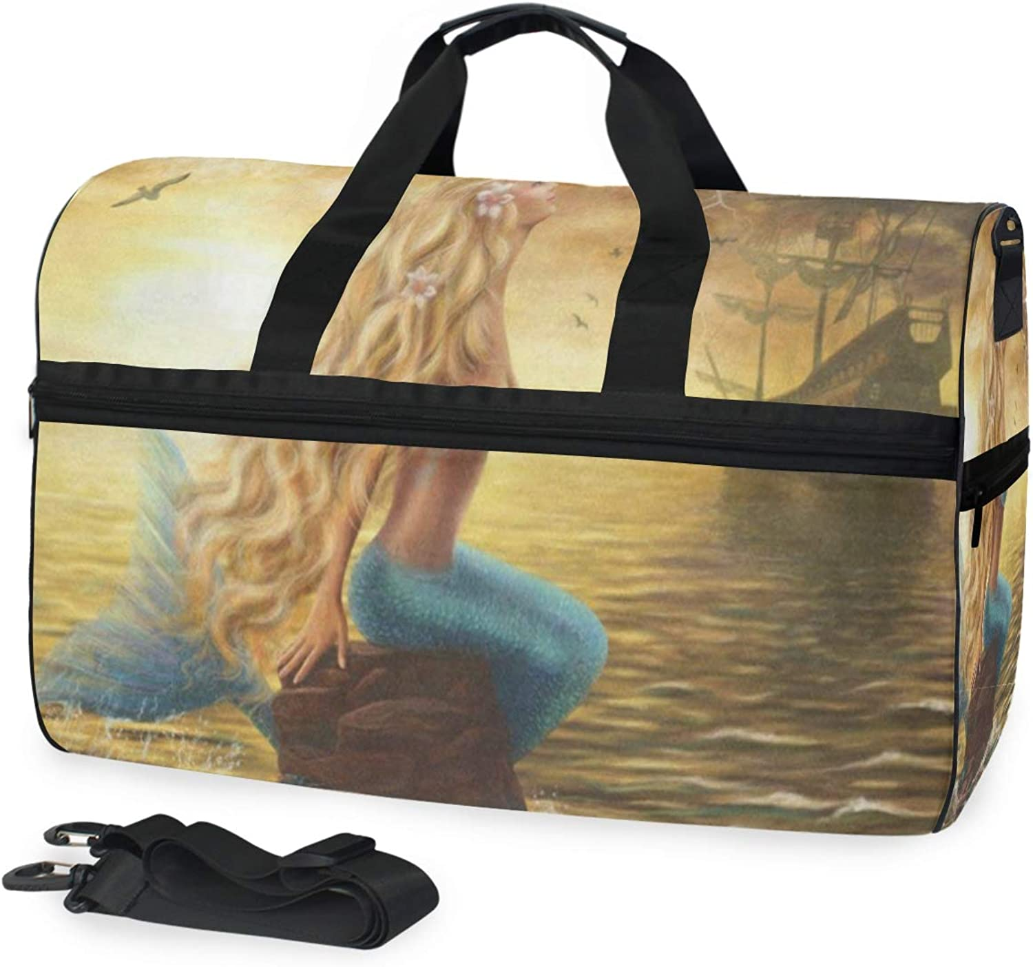 Gym Bags Gymsack Surfing Sunset Print Drawstring Bags Simple Gym Shoulder Bags Drawstring Bags