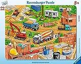 Ravensburger Kinderpuzzle 06058 - Arbeit auf der Baustelle - Rahmenpuzzle