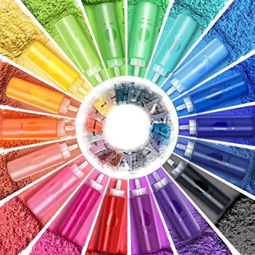 Tie Dye Kit, 18 Colors(36 dye Packets) Permanent Tie Dye Kits for Kids Adults, Double Dye Amount, 2.7oz Big Bottles, All-in-1 DIY Shirt Fabric Tye Dye Set for Group Craft Arts Party Supplies