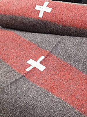 Swiss Army Reproduction Wool Blanket 60 x 84