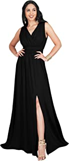 Womens Long Sleeveless Bridesmaid Cocktail Evening Maxi Dress