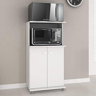 TecnoMobili MDP Storage Cabinet with two Doors BL3307, 15mm, Internal shelf to easy organization, White, 116 x 61 x 39 cm,...