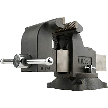 """Wilton WS8 Shop Vise, 8"""" Jaw Width and Opening, 4"""" Throat (63304)"""